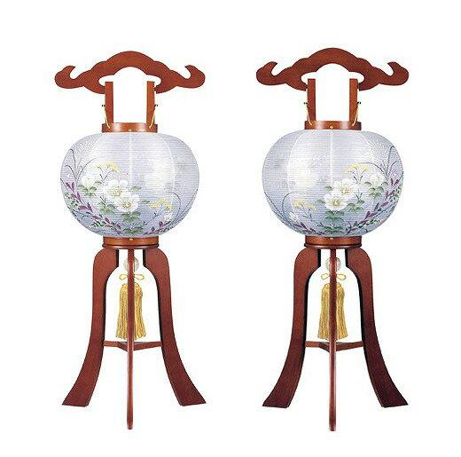 盆提灯 大内行灯 対柄提灯小型行灯9号 光琳ケヤキ(一対):人形のこどもや本店