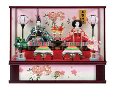 【ひな人形】【コンパクトサイズ】超お買い得ひな人形!オルゴール、電気式ぼんぼりつき【雛人...