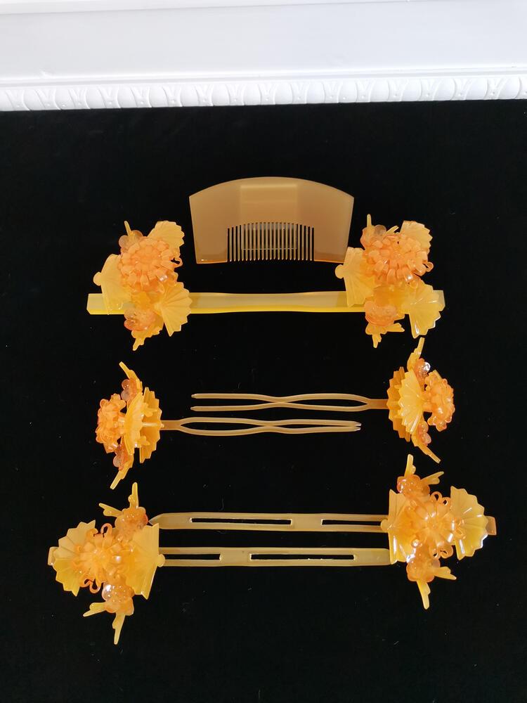 【レンタル】花嫁 かんざしレンタル べっ甲05 和装 前撮り 後撮り 結婚式 神社 簪 花嫁簪