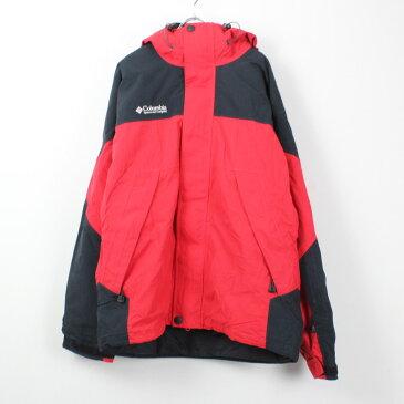 【中古】【送料無料】(KA) COLUMBIA (コロンビア) 90'S TITANIUM MOUNTAIN PARKA W/FLEECE 90年代 USA製 マウンテンパーカー ナイロンジャケット RED/BLACK [SIZE: XL USED]