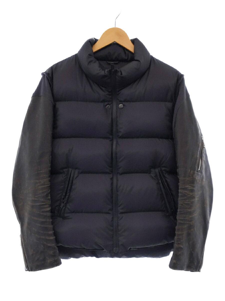 メンズファッション, コート・ジャケット UNDERCOVER1BLK Leather Sleeve Down Jacke UCZ9204