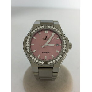 [Used] HUBLOT ◆Watch/Classic Fusion Titanium Pink Bracelet/Self-winding/Case Available/Secust