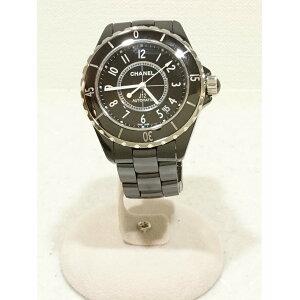 [इस्तेमाल] Chanel J12 / स्वचालित घड़ी / एनालॉग / सिरेमिक / BLK / बॉक्स / H0685 / Chanel [फैशन के सामान, आदि]