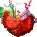 二点送料無料 4色髪飾り付 大型舞台ラテン団体演出ドレス ロ