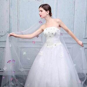 2cfea038eafd0 二枚送料無料 ウェディングベールロングベールトレーン ブライダル花嫁 結婚用品 結婚