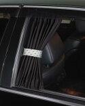 ジャンクションプロデュースJUNCTIONPRODUCEレザー調カーテンベルト(汎用)車カーテン日よけスタイリッシュプライバシーベルトホワイトブラックロゴ