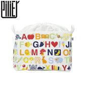 収納ボックス ランドリーバッグ 布製 折りたたみ 巾着付き ピリエ PILIER スクエアショート アルファベット