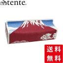 ティッシュカバー ティッシュケース テ壁掛け可 ンテ TENTE 富士山 Fujiyama レッド 赤富士