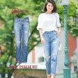 AG Jeans ジーンズ デニム レディース エージーダメージ[THE PHOEBE]ロールアップ ウォッシュ加工 インディゴ ブランド送料無料