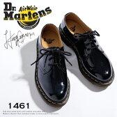 ドクターマーチン レディース 3ホールシューズ 1461Wパテント Dr.MARTENS 3EYE SHOES 1461W PATENTおじ靴 レースアップシューズ ブラック Black 10084001 シューズ エナメルシューズ レディースくつ マーチン uk4 uk5 uk6送料無料