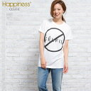 Happiness10 レディース ハピネス10 ハピネステンTシャツ ロゴTシャツ カットソー 半袖Tシャツ 白 Celfie シンプル デザイン| 半そで レディス トップス ティシャツ ティーシャツ