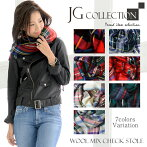 JGCollection������ߥå����ե�󥸥����å����ȡ����Woolmixcheckstole��