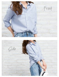 【n】【JGCollection】シャツオックスフォード長袖コットンレディースホワイトブルー《PlainOxfordshirt》着るだけでオシャレに決まる大人のこなれシャツ【即日発送】バレンタイン