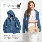 JGCollection�������åȥǥ˥ॸ�åץ��åץѡ�����SweatDenimZipUpParka��