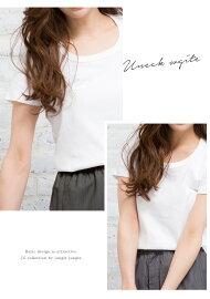 JGCollectionレディースTシャツ半袖VネックUネックBBasicShortSleeveT-Shirt無地ホワイトグレーブラックJGコレクション