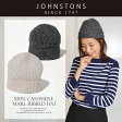 ジョンストンズ カシミア ニット帽 Johnstons HAE1998MARL RIBBED HAT 高級感漂う 滑らか&ソフトな肌触り 大人の上品 帽子 カシミア100%即日発送【メール便対応商品】