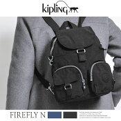 kiplingキプリングバックパックリュックFIREFLYNショルダーリュック2WAYナイロンブラック通勤通学