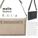 Melie Bianco メリービアンコ  クラッチバッグ Katrina Flap Over Accordion Clutch with Stud...