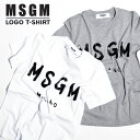 MSGM レディース Tシャツ ロゴT ロゴ エム エス ジ...