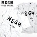 MSGM レディース Tシャツ ロゴT ロゴ エム エス ジー エムM...