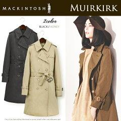 【jg】MACKINTOSH マッキントッシュ コート トレンチコート レディース ロング 《 MUIRKIRK 》マニッシュ ながらもエレガントに着れる♪ ファー ライナー 付きで 秋冬 も ロングシーズン着用できるのも嬉しい!