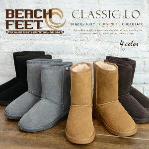 【n】BEACH FEET ビーチフィート ムートンブーツ ミディアム 《 Classic Lo 》新作 モデル 高品質滑らかな ビーチフィート 柔らかい メリノウール 手触り、履き心地共に最高ランク ムートンブーツ 革靴