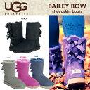 UGG アグ ムートンブーツ クラシック コレクション リボン ショート ベイリーボウ BAILEY BOW バック の リボン が大人可愛い ふわふわの シープスキン で快適な履き心地を実現 革靴送料無料