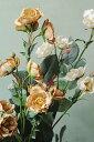 【造花 アートフラワー フェイク バラ 薔薇 パーツ インテリア 雑貨 ギフト】グレイッシュ ワイルドローズ スプレー