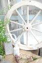 【オブジェ 置物 レリーフ ガーデン ホイール シャビー ガーデニング おしゃれ アンティーク調 アンティーク風】ガーデンウィール S ホワイト