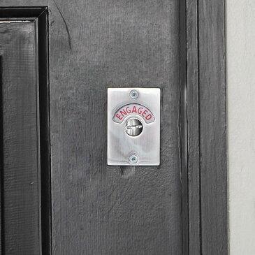 【レストルーム ラッチ 錠 鍵 トイレ キー クロム アンティーク調 アンティーク風】レストルーム レクトラッチ クロム1