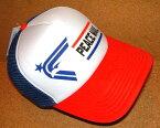 CHIPPS COMPANY/チップスカンパニー 「PEACE CAP/ピースキャップ」 アメカジ! プリント入り メッシュキャップ (WHITE×RED×BLUE) ベースボールキャップ 帽子 バイカー ホットロッド ホワイト 白 レッド 赤 ブルー 青