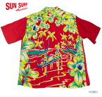 "SUN SURF サンサーフ アロハシャツRAYON S/S SPECIAL EDITION ART VOGUE""CATAMARAN CANOE"" Style No.SS34661"