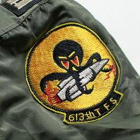 "No.BR13895BUZZRICKSON'SバズリクソンズTypeMA-1""LIONUNIFORMINC,""613thTAC.FIGHTERSQ."