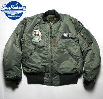 No.BR13267BUZZRICKSON'SバズリクソンズLIONUNIFORMINC.typeMA-1127thTacticalFighterSquadron/100Missions