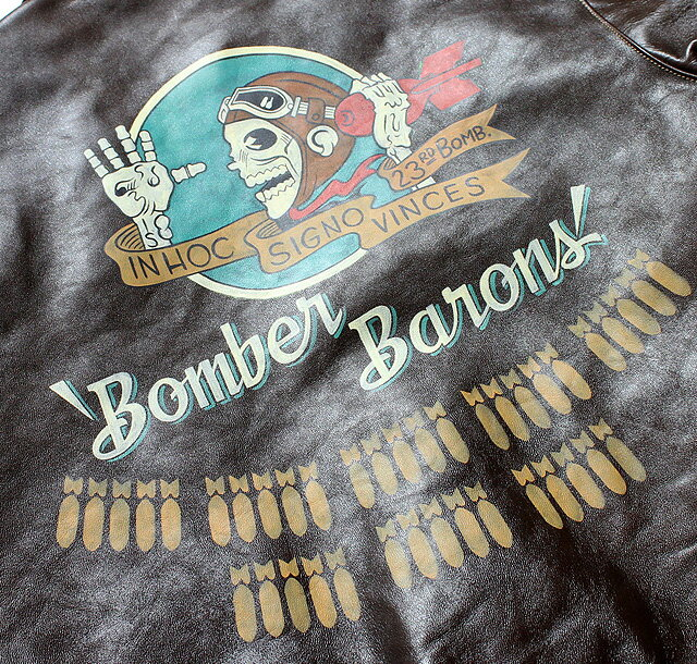 """No.BR80509 BUZZ RICKSON'S バズリクソンズType A-2 No.42-18775-P """"BUZZ RICKSON CLO.CO."""" RED RIB VERSIONBACK PAINT """"BOMBER BARONS"""""""