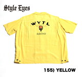 "No.SE37554STYLEEYESスタイルアイズROYONBOWLINGSHIRTW/CHAINEMB'D""WYTLRADIO"""