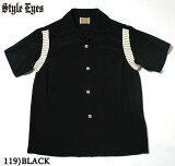 "No.SE37801STYLEEYESスタイルアイズRAYONBOWLINGSHIRT""RIBSWITCHED"""