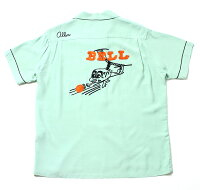 """No.SE37799STYLEEYESスタイルアイズRAYONBOWLINGSHIRTW/CHAINEMB'D""""HELICOPTERBOY"""""""