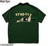 """No.SE38075STYLEEYESスタイルアイズRAYONBOWLINGSHIRT""""KFMB-TV"""""""