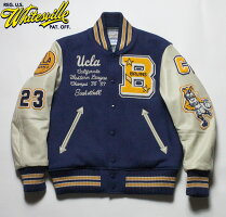 "No.WV14218WHITESVILLEホワイツビル30oz.WoolMeltonAwardJacket""UCLA""FullDecoration"