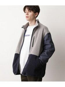[Rakuten Fashion]マルチカラーボアスタンドブルゾン JUNRed ジュンレッド コート/ジャケット ブルゾン グレー ホワイト カーキ【送料無料】