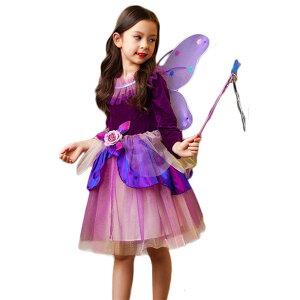 【即納対応】ハロウィン 女の子 衣装 魔女 子供 コスプレ 仮装 キッズ ワンピース 子供 コスチューム 魔法使い キッズ 子供 ワンピ 精霊 女の子 妖精 パーティーグッズ 子どもドレス キッズダンス衣装