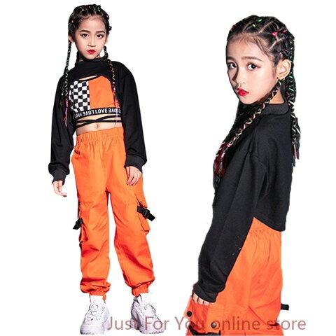 キッズダンス衣装 ダンス 衣装 ヒップホップ 子供 ダンクトップ シャツ ギンガムチェック tシャツ カーゴパンツ 女の子 ベリーダンス衣装 ジャズ ステージ衣装