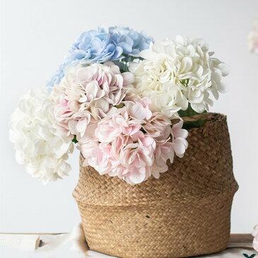 アジサイ 造花 フラワー 1本セット インテリア 枯れない ブーケ おしゃれ 飾り フェイクフラワー 花 植物 母の日 早割 ギフト プレゼント