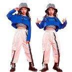 キッズダンス衣装 ヒップホップ キッズ 韓国ファッション シャツ スカート セットアップ ジャズダンス へそ出 ダンスウェア hiphop 演出服 ステージ衣装 発表会 練習着 団体服