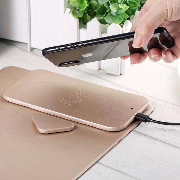 ワイヤレス充電器iPhoneX/iPhone8マウスパッドスマホホルダワイヤレスチャージャーワイヤレス充電スタンドqi対応機