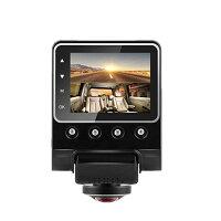 360度撮影ドライブレコーダー駐車時監視システム付き取り付け簡単ミニ平型接続済