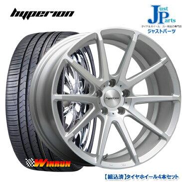 送料無料 225/35R19ウィンラン(WINRUN) R330新品 サマータイヤ ホイール4本セットハイペリオン HYPERION CVXセミグロスポリッシュ/シルバー19インチ 8.5J 5H114.3