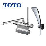 [TMGG46ECR]TOTO 浴室水栓 シャワー水栓 GGシリーズ サーモスタットシャワー金具(台付きタイプ) シャワーヘッド:エアインめっき 【送料無料】 混合水栓 浴室用 蛇口 デッキタイプ