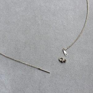 ネックレスレディースパールオメガ形状記憶ワイヤースライドピン6月誕生石パールネックレスK18PG7.5~8.0mm